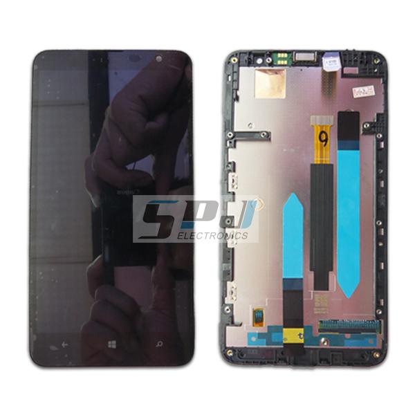 Для Nokia lumia 1320 ЖК-дисплей с сенсорным экраном дигитайзер ассамблеи с рамкой, Оригинальный новый, бесплатная доставка nokia 6700 classic illuvial