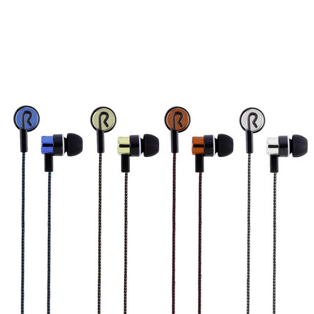 3.5mm Stereo Woven Fiber Cloth Line Headset Device Metal Earphones Jack Wholesale<br><br>Aliexpress