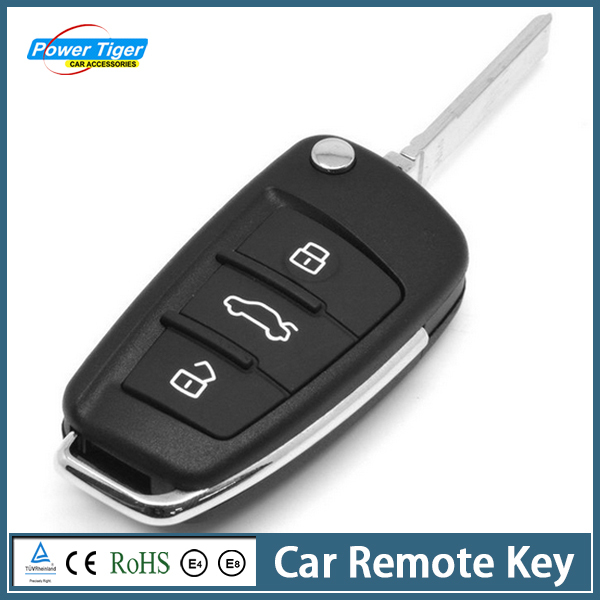 High Quality 1 pc Car Remote Key Portable 3 Buttons Car Key Case Remote Car Key Shell Case for VW AUDI Key Case(China (Mainland))