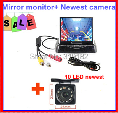 Auto Parking Camera Monitors System, IR Night Vision Rear View HD LED Camera With 3.5 inch fold LCD Car Monitor 2ch av in<br><br>Aliexpress