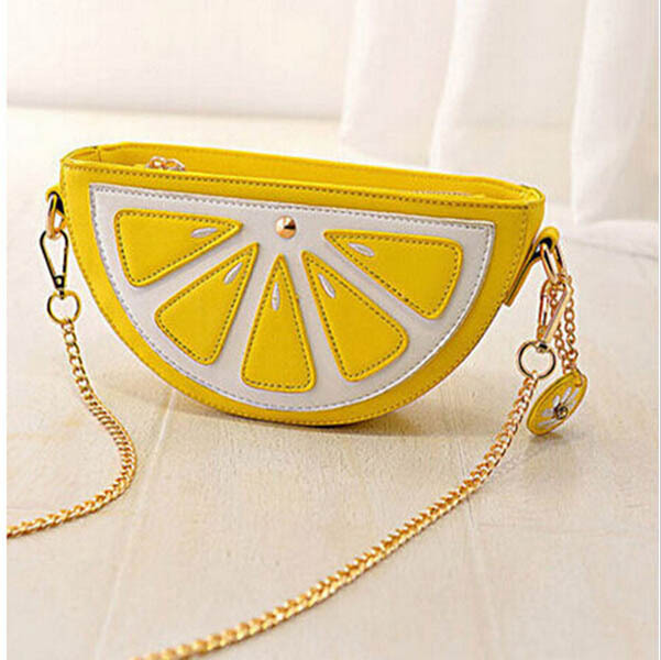 2015 New Style Women Cute Small Lemon Orange Bag Evening Banquet Wedding Party Clutches Bolsas Fashion Shoulder Handbags C-3623(China (Mainland))