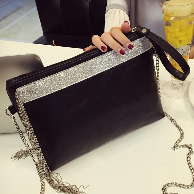 2016 fashion high grade design Clutch tassel bag envelope clutch bag handbag(China (Mainland))