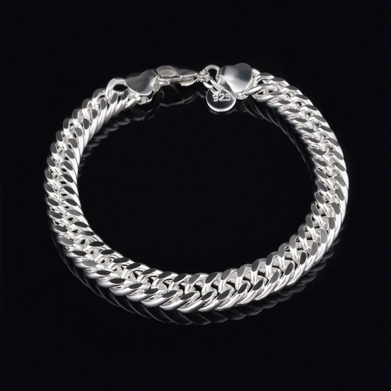 Hot Silver Snake link Chain Bracelet Charms Bracelet Bangle Chain Jewelry Accessories Gift D00813(China (Mainland))
