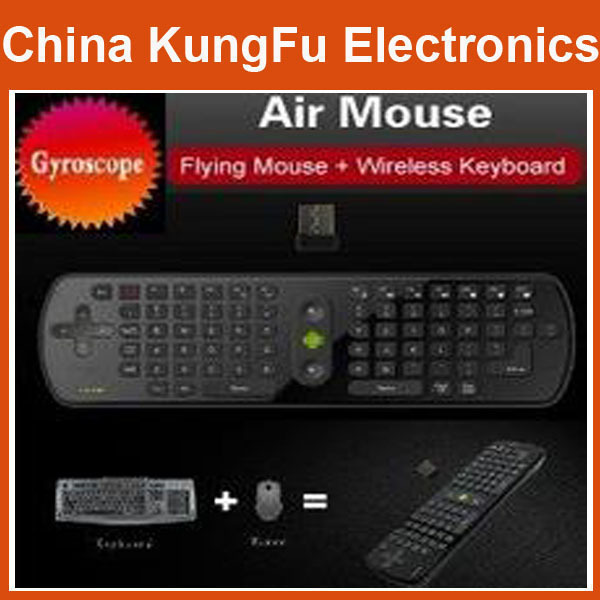 Freeshipping  Airmail Gyroscope Mini Fly Air Mouse RC11 2.4GHz wireless Keyboard for google android Mini PC TV Palyer box