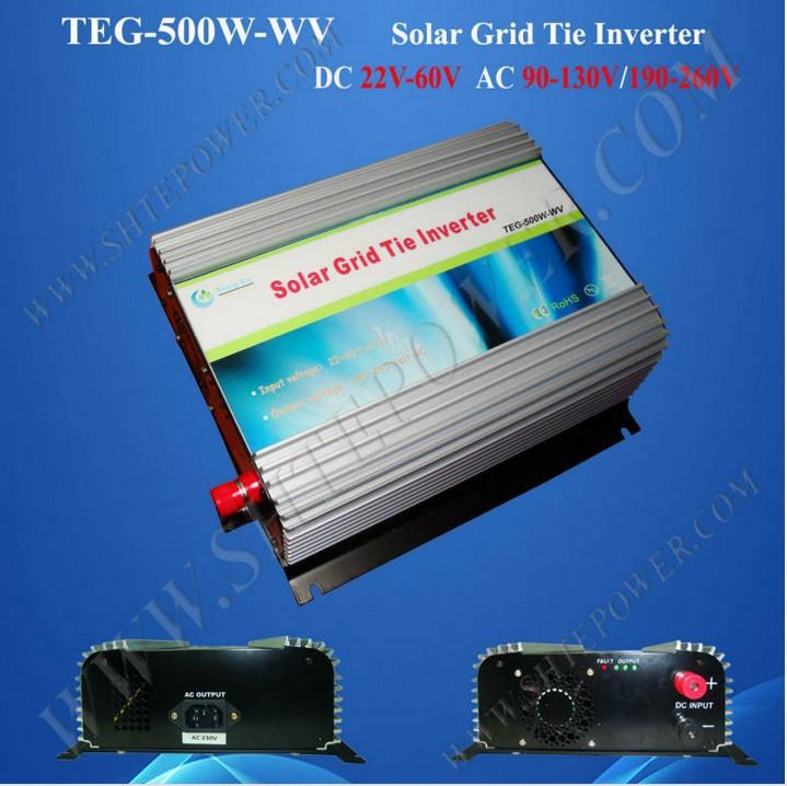 220V 48V grid tie inverter micro inverter 500w dc to ac pv inverter 22-60v to 110v/220v grid tie inverter(China (Mainland))