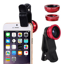 Buy Universal Fish Eye 3in1 + Clip Fisheye Smartphone Camera Lens Wide Angle Macro Mobile Phone Lents iPhone 7 6 5 4 Smart Phone for $1.59 in AliExpress store