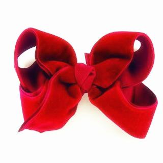 80pcs Christmas Red Velvet Bow Hair Clip (7cm), Peach Ribbons(China (Mainland))