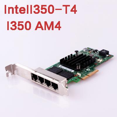 IntelI350-T4 I350AM4 Chip PCI Express Network Card PCI-E Adapter 4 Gigabit Lan Port 1000M Ethernet Network interface Card Driver(China (Mainland))