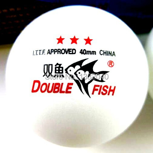 30 Boxes(90 Pcs) Double Fish 3 Stars 40MM Olympic Table Tennis White Ping Pong Balls YB-30(China (Mainland))