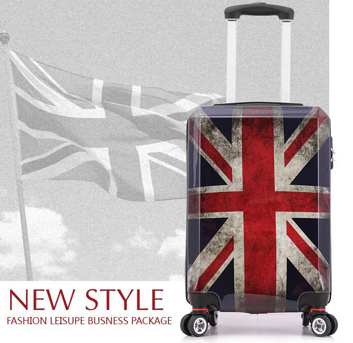20 Inch Adults Vintage Luggage London ABS Retro Travel Suitcase on ...