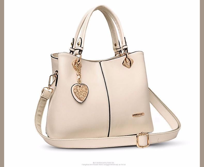 Trendy Designer Handbag Heart Ornamet Hand Bag Ladies Inexpensive Elegant Luxury Women Shoulder Bag Ladies PU Leather Large Bag