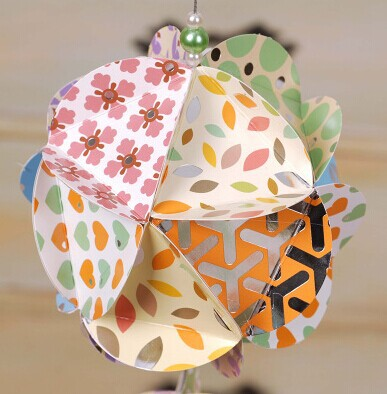 Free Shipping DIY Colorful Ball Ornaments Suit Origami Birthday Party Decoration 1pack(China (Mainland))