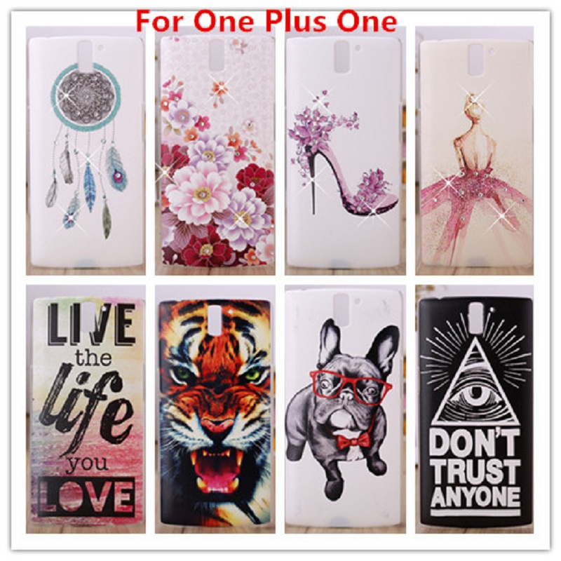 Luxury Oneplus One Case /Crystal Diamond 3D Bling Hard Plastic Cover Case For One plus One Cell Phone Case(China (Mainland))