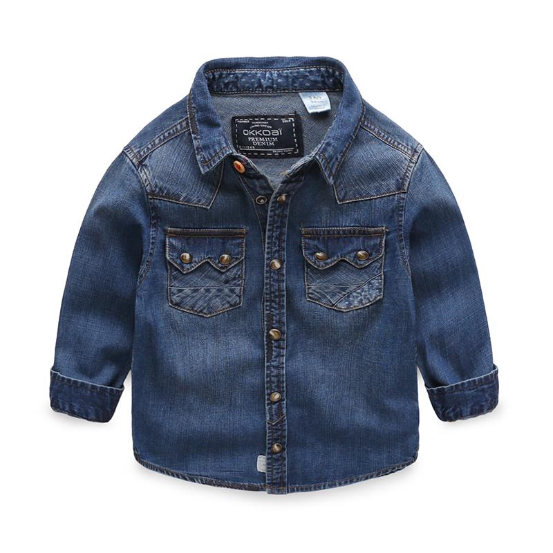 Baby cowboy children 2016 new spring shirt boys solid<br><br>Aliexpress