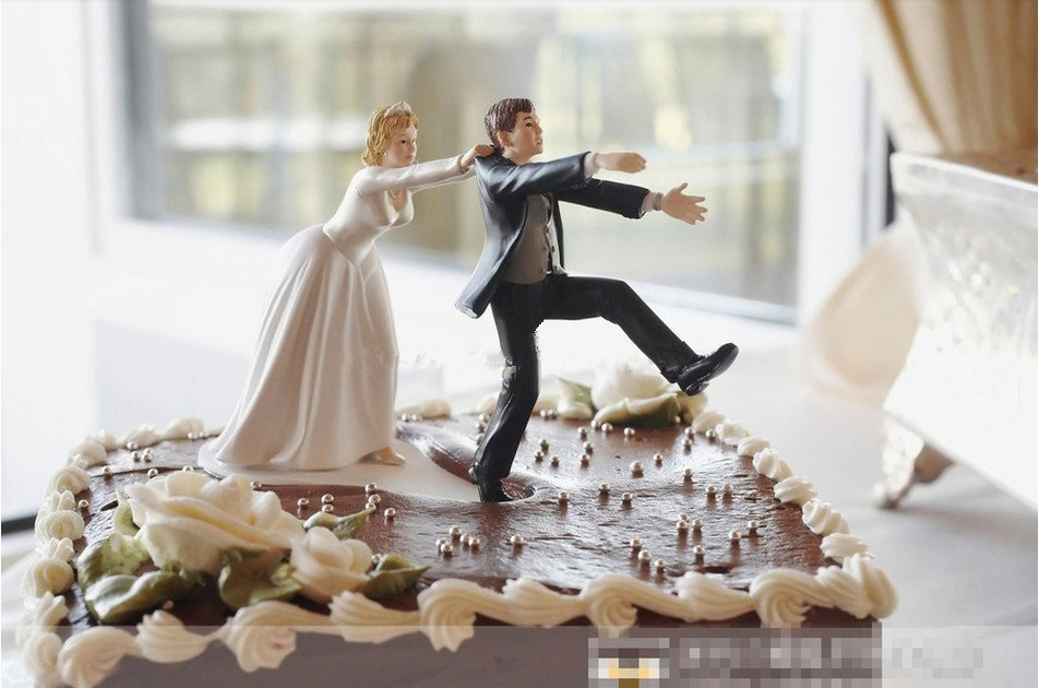 Aliexpress Buy New Come Back Bride And Groom Funny Wedding Cake Topper Personalized Cake