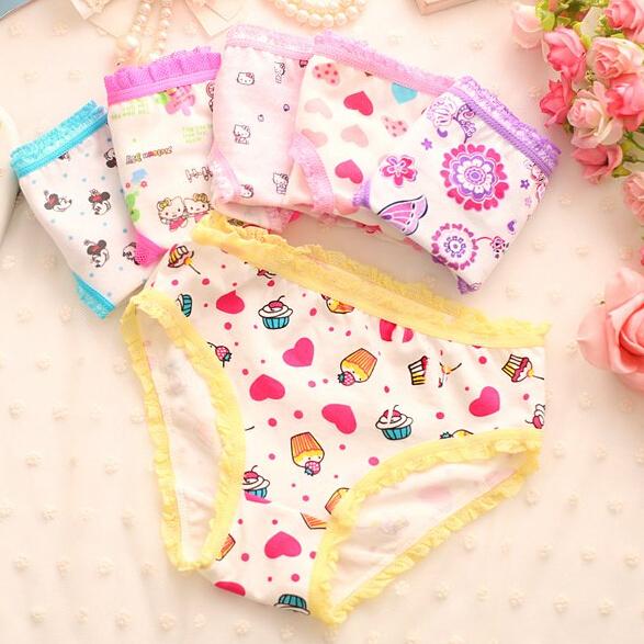 12pcs/lot thermal underwear for children briefs for girls underwear cotton panties character kids underwear  modal baby   briefs