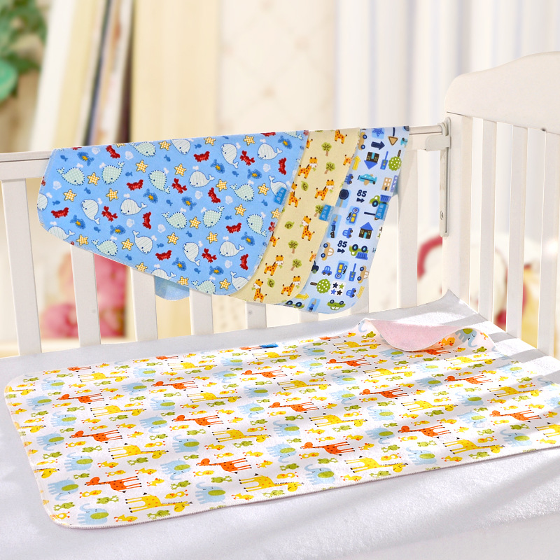 Double Sides Flannel Changing Mat Bamboo Fiber Waterproof Baby Diaper Nappy Changing Pad Mattress For Stroller Bed Breathable(China (Mainland))