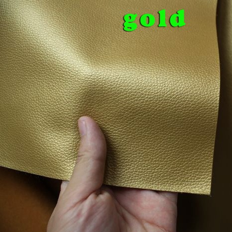 Gold, Small Lychee PU leather, Faux Leather Fabric, PU artificial leather. Upholstery leather, Sold BY THE YARD, FREE SHIPPING(China (Mainland))