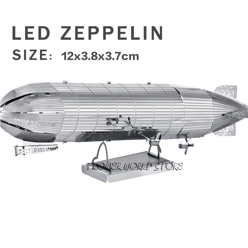 New creative Cool Super airship 3D metal model 3D puzzles Led Zeppelin Jigsaws Creative DIY Adult/Children gifts toys Etc.(China (Mainland))