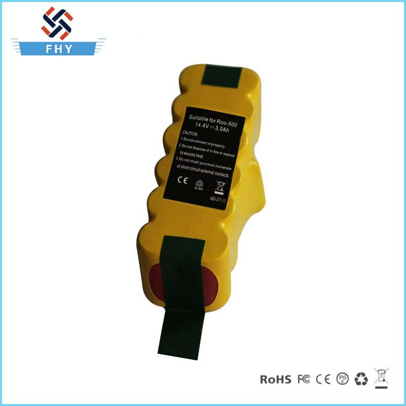 Wholesale OEM 14.4V 3.0Ah NI-MH Vacuum Cleaner Battery Pack For iRobot Roomba 500 510 530 535 540 550 560 570 580(China (Mainland))