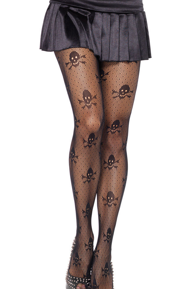 calcas femininas black tights Net Skull Stretch hose pantyhose stockings women LC79512 dear-lover(China (Mainland))