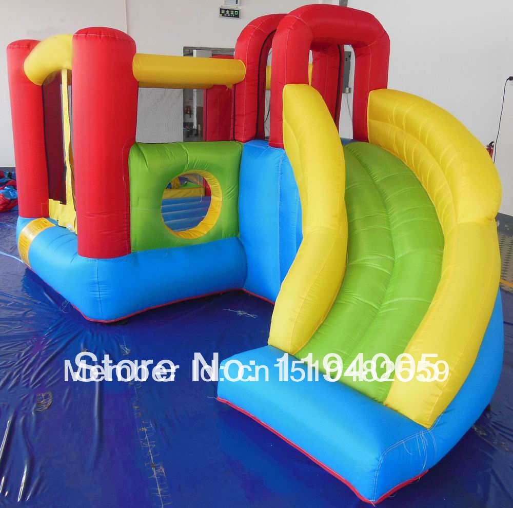 inflatable bouncer trampoline castle Hot Sale Bouncy with children slide bouncerplayground house games toys pump outdoor(China (Mainland))
