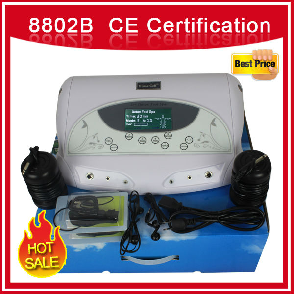 Dual System Aqua Detox Foot Spa With MP3/Dual System Music Ion Cleanse /Detox Foot Spa 8802B(China (Mainland))