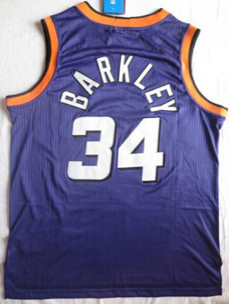 Phoenix Super Star Throwback #34 Charles Barkley Jersey white red Retro Vintage Basketball jersey(China (Mainland))