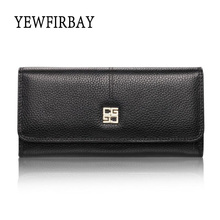 Buy YEWFIRBAY brand 2017 new fashion women wallets female card holders genuine leather wallet coin purses long wallet lady wallet for $14.00 in AliExpress store