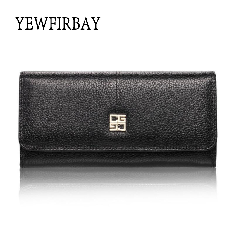 2017 New fashion Women Wallets female cards holders genuine leather wallet coin purses girl Long Wallet lady wallets(China (Mainland))