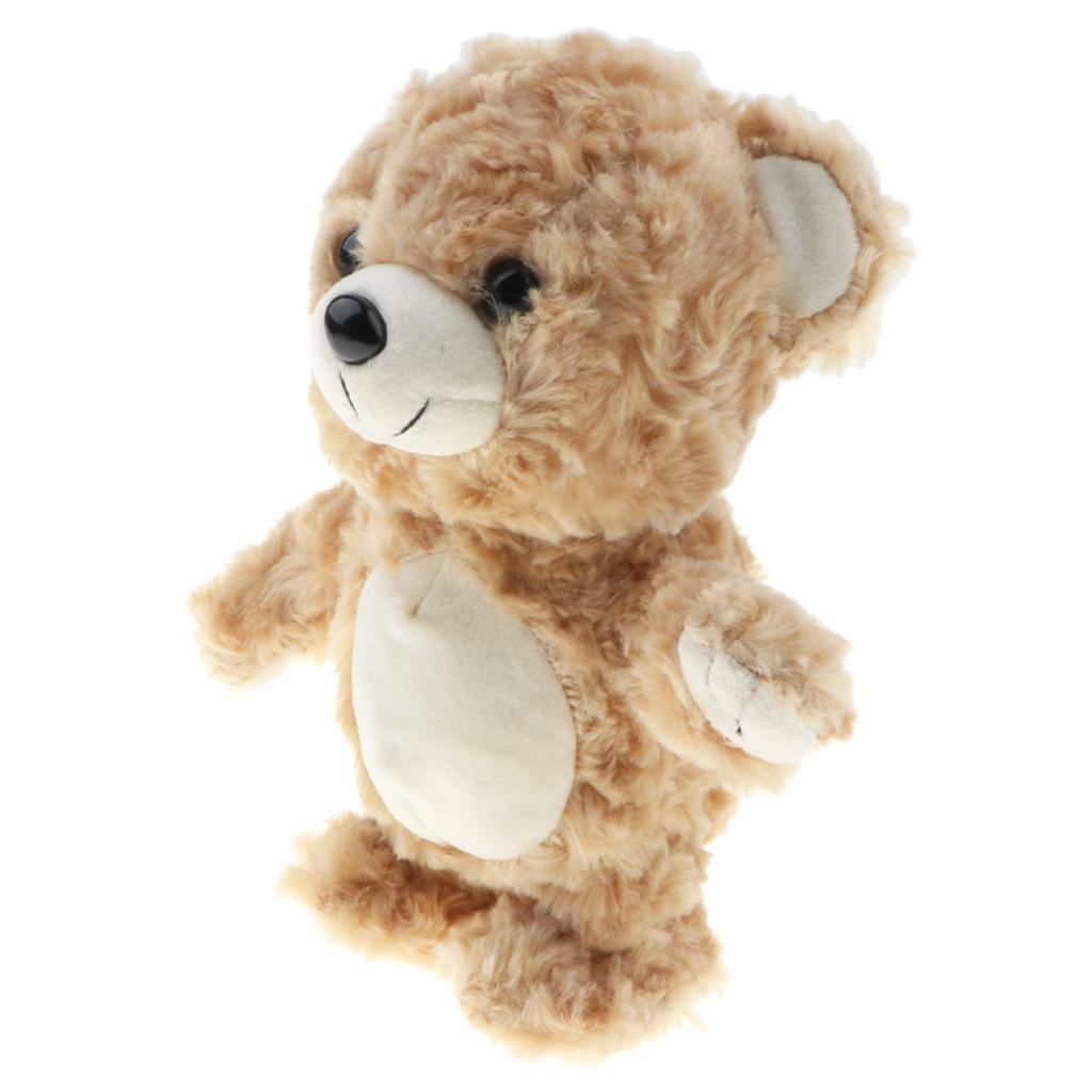 8' Soft Plush Talking Walking Bear Doll, Repeats What You Say, Brown Color Kids Walking Animal Toy Gift Plush Stuffed Animal