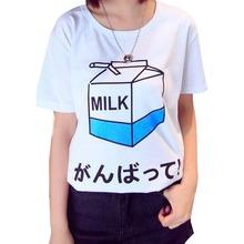 2015 summer new women's t shirt wholesale Korean soft sister Meng Meng Da milk print female student short-sleeved loose T-shirt
