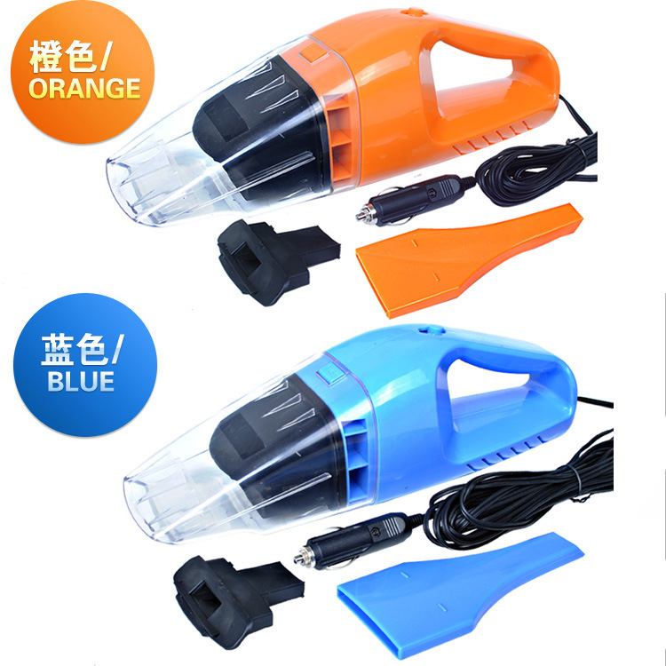 Free Shipping High Quality 2 colors 120W Wet And Dry Hand Held Electric Vacuum Cleaner Car Charger Portable Dust Collector(China (Mainland))