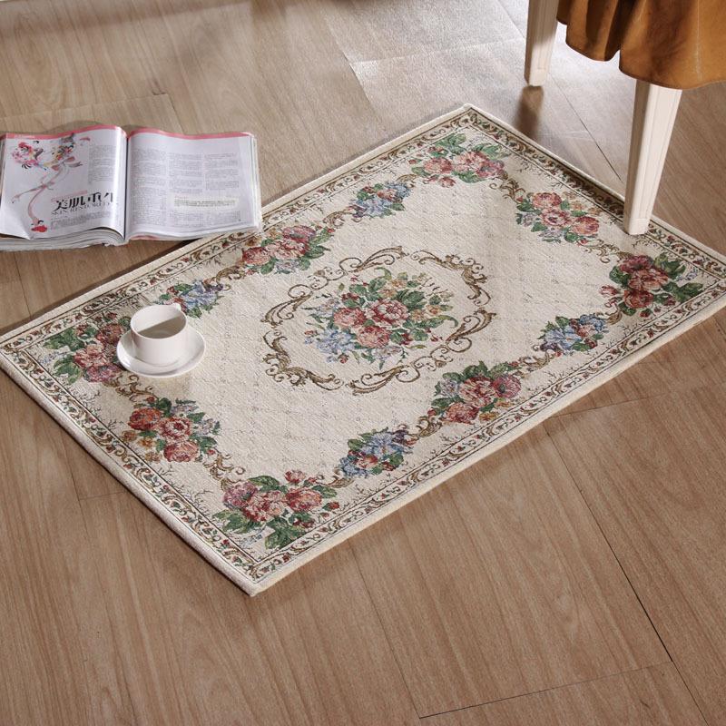 Bathroom Carpet Classic Jacquard Bedroom Living Room European Style Garden Coffee Table Mats Mat