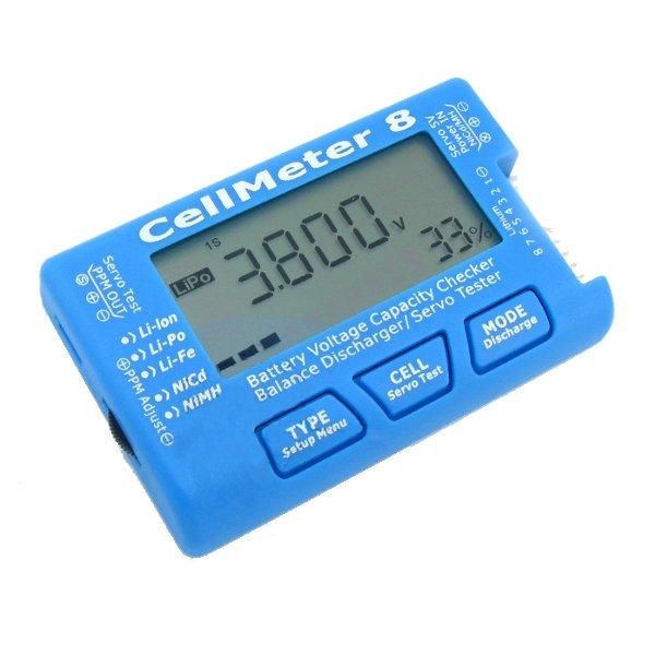AOK CellMeter 8 Battery Capacity Checker Servo Tester RC CellMeter for 2-8S LiPo LiFe Li-ion NiMH Nicd Eachine(China (Mainland))