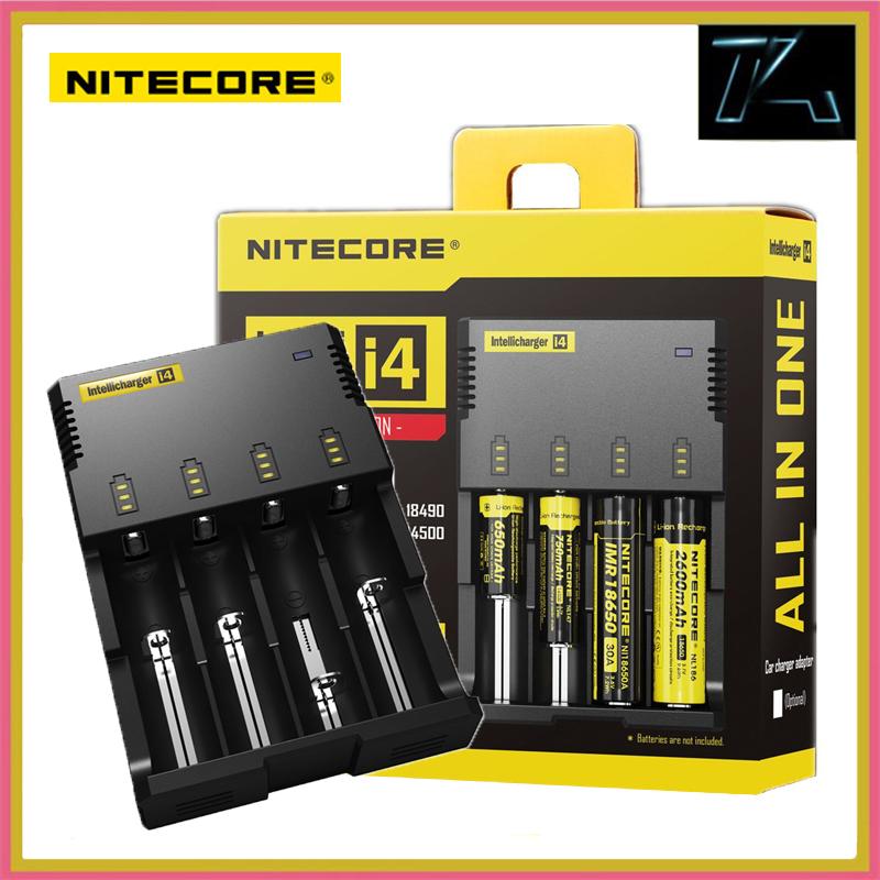TK Original Nitecore I4 Digicharger Universal Protable Battery Charger for AA AAA Li ion 18650 Batteries Charging High Quality(China (Mainland))