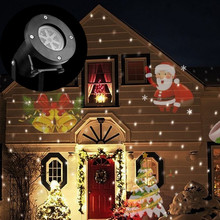 Holiday Decoration Waterproof Outdoor LED Stage Lights 12 Types Christmas Laser Snowflake Projector lamp Home Garden Star Light(China (Mainland))