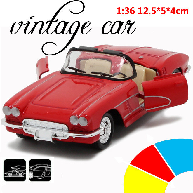Convertible Classic Car 1:36 scale alloy pull back model car, Retro Diecast cars toy,Children's gift,free shipping(China (Mainland))
