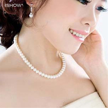 Buy Womens jewellery colliers big chain simulated pearl necklace bridal jewelry necklace female white wedding gifts pearl necklace for $1.39 in AliExpress store