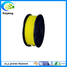 1.75mm Yellow  PLA 3D Printer supplier plastic rubber consumable material -1kg Spool