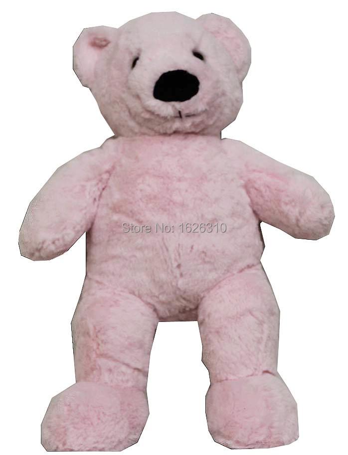 pink plush stuffed bear huggable bear washable sit stand teddy bear black nose(China (Mainland))