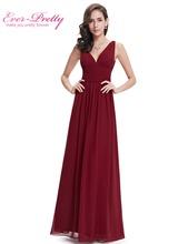 Evening Dresses Double V Black Elegant Long Formal Gown EP09016 Ever Pretty 2016 Vestido Longo Evening Dresses(China (Mainland))