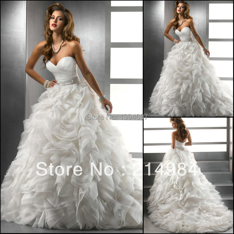 2015 the best qualitysweetheart ball gown ivory silver for Ivory and silver wedding dress