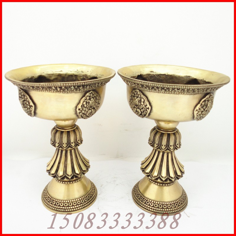 Bronze statue copper mousse candlesticks a pair of Large religious articles wedding gift home decoration crafts Bronze(China (Mainland))
