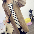 Fashion Autumn Winter New Casual Brief Long Motley Thick Knitted Cardigan Dress Sweater Jumper Jerseys with