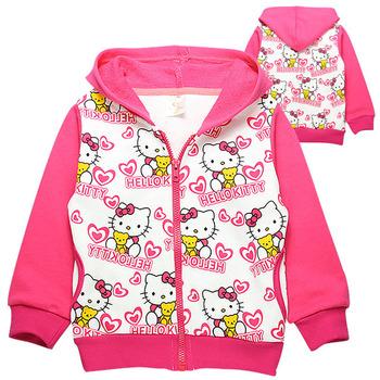 free shipment and wholesale of  hoodies kids sweater,shirts, long sleeve hello kitty t shirts,6pcs/lot mix full size