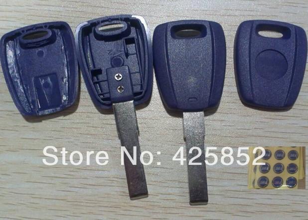 Fiat Transponder Key Shell (Blue color ) Fiat  Key Blanks SIP22 Blade Car transponder Key Cover <br><br>Aliexpress