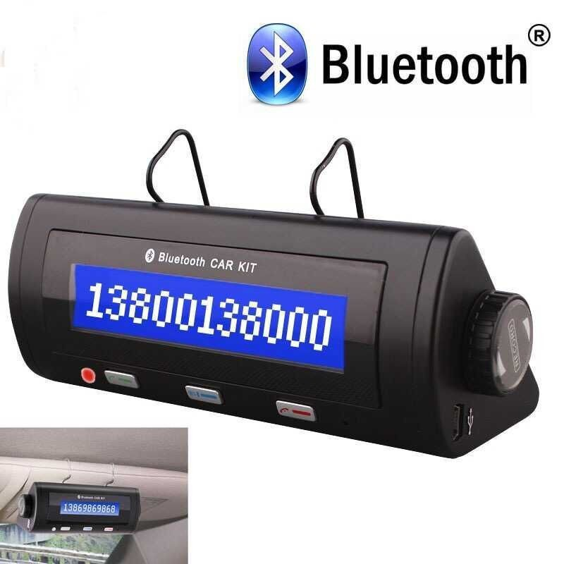 Professional Bluetooth Hands-free Car Kits Bluetooth Speakerphone Receiver with LCM display Support Voice Call(China (Mainland))