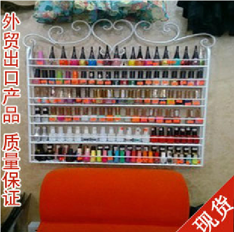 Iron nail polish rack oil store shelf wall shelving cosmetic cream display cabinets