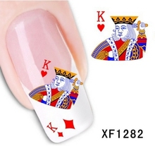 Artificial flowers, watermark nail stickers series XF1282